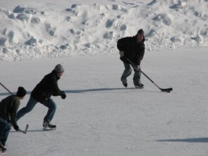 Playing Shinny
